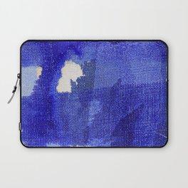 Blue abstract linen Laptop Sleeve