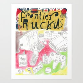 """""""Open It Up"""" / Frontier Ruckus Song Illustrations, Series 2 (2/3) Art Print"""