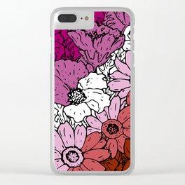 Lesbian Flowers Clear iPhone Case