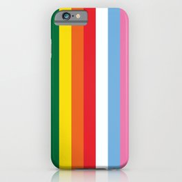 ALL THE COLORS OF LGBTQI+ QUEER COLOUR STORY UNITY iPhone Case