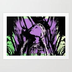 Pigtails Art Print