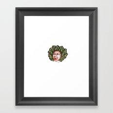 Butterfly Head Framed Art Print