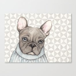 French style - French Bulldog Canvas Print