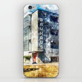 Bauhaus Dessau, Aquarell iPhone Skin