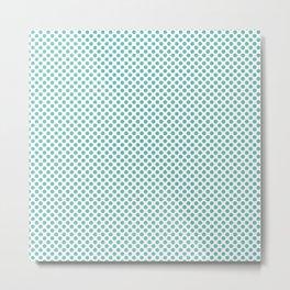 Pool Blue Polka Dots Metal Print