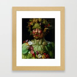 "Giuseppe Arcimboldo ""Holy Roman Emperor Rudolf II re-imagined as Vertumnus"" Framed Art Print"