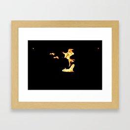 Dancing Fire Framed Art Print