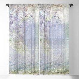 Fury Tsunami by Maureen Donovan Sheer Curtain