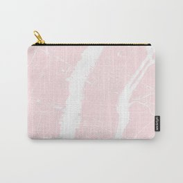 New York City Pink on White Street Map Carry-All Pouch