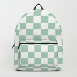Gingham Nebula Pastels Green Mint Checked Pattern Backpack