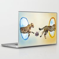 portal Laptop & iPad Skins featuring Portal by Anna Shell