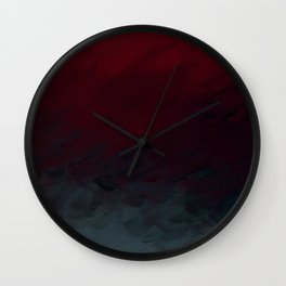 Inverted Fade Crimson Wall Clock