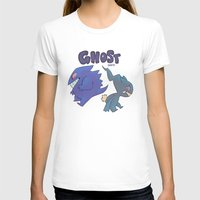 gengar T-shirts featuring PRESS START-  Gengar and Banette by Dampho