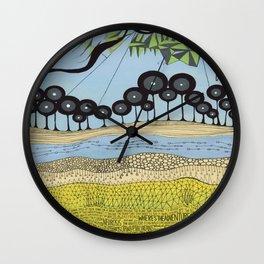 id escaped album artwork, ANALOG zine Wall Clock