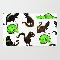 dinosaurs Area & Throw Rugs featuring dinosaurs by Lara Paulussen