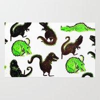 dinosaurs Area & Throw Rugs featuring dinosaurs by Lara Paulussen