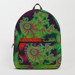 Psychadelic Centerpiece - Fractal Art Backpack