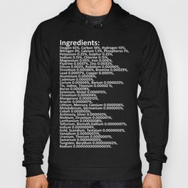 Composition of the human body /white Hoody