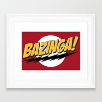 bazinga Framed Art Prints featuring Bazinga by Maxx Hendriks