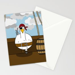 Eglantine la poule (the hen) disguised as a pirate. Stationery Cards
