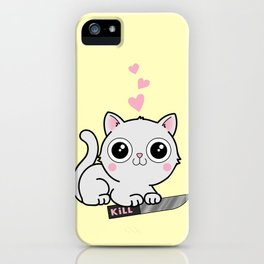 Kitty Hearts Kill - Cats Love Plotting iPhone Case