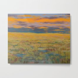 Flint Hills Abstract No.1 Metal Print