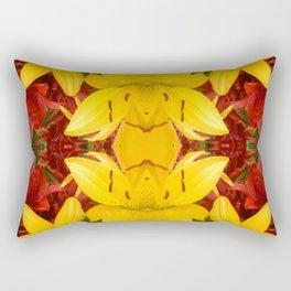 """A Gathering of Lilies"" Remix - 4 (4-1) [D4469~57] Rectangular Pillow"
