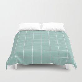 Small Grid Pattern - Light Blue Duvet Cover