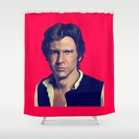 han solo Shower Curtains featuring Han Solo  by Jemma Klein