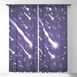 Flying meteors. Ultra violet. Blackout Curtain