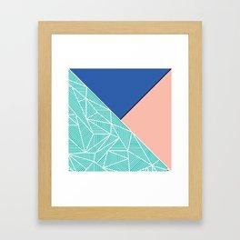 B Rays Geo 4 Framed Art Print