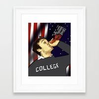 college Framed Art Prints featuring College by BS Brands