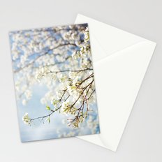 White Flowers Against the Sky Stationery Cards