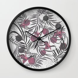 Plants Flowers and Your Light Fruit Wall Clock