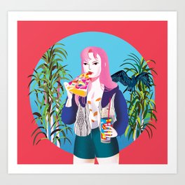 Pizza Girl Art Print