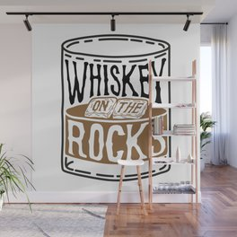 Whiskey On The Rocks Wall Mural
