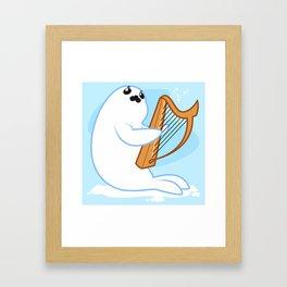 Baby HARP seal Framed Art Print
