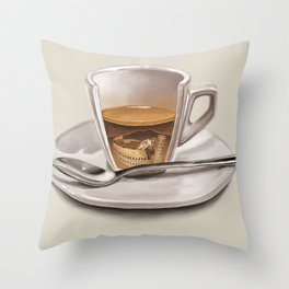 Italian coffee Throw Pillow