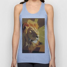 lion art low poly creative abstraction abstract art animals Unisex Tank Top