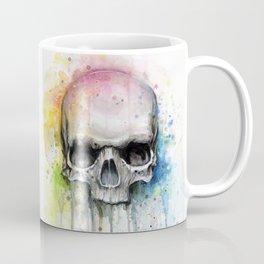 Skull Rainbow Watercolor Coffee Mug