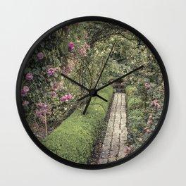 Rose Garden -Lyon France Wall Clock