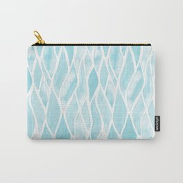 Sand Flow Pattern - Light Blue Carry-All Pouch