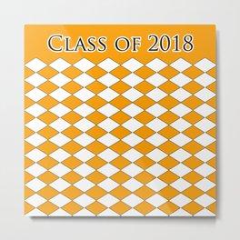 Class of 2018...Orange Metal Print