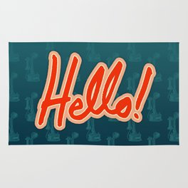 Hello! / Hold the phone Rug