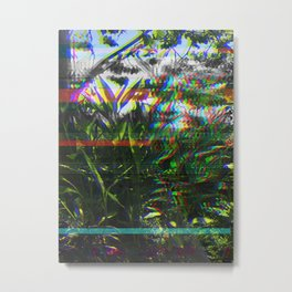PlaNtS GLiTcH 3 Metal Print