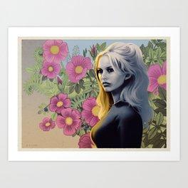 FRENCH FLOWERS FEAT. BRIGITTE BARDOT Art Print
