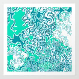 Cells Blue Art Print
