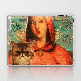 Madonna With Cat Laptop & iPad Skin