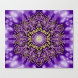 Mandala of Lights on Purple Canvas Print