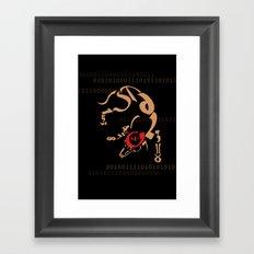 number hound  Framed Art Print